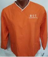 New RIT Nathaniel Rochester Society Orange Lined Pullover Windbreaker M ... - $25.85
