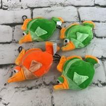 Tropical Fish Plush Lot Of 4 Orange Green Stuffed Hangable Toys Nursery ... - $11.88