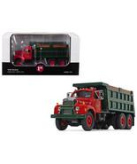Mack B-61 Tandem Axle Dump Truck Mack Trucks, Inc. Red Cab and Green Bod... - $81.04