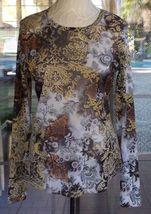 """Long Sleeve Karen Kane Sheer Shirt Sz. L 40"""" Bust - $7.99"""