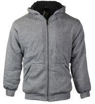 Boys Kids Toddler Athletic Soft Sherpa Lined Fleece Zip Up Hoodie Sweater Jacket image 4