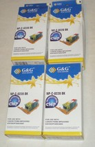 G&G - NP-C-0220 BK  Ink Cartridges - LOT of 4 - for Canon Pixma - NEW - DD-6125 - $19.34