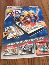 Crayola Color Alive 2.0 DC Super Hero Girls Coloring Kit - Ships N 24h - $7.90