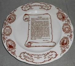 1976 Bicentennial RESTAURANT DINNER PLATE - JACKSON CHINA Made in Pennsy... - $29.69