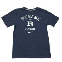Nike R Rated Game T-shirt Navy Blue Script Tee Adult Small S Regular Fit 64d996e982aa8