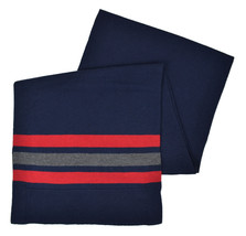 Brooks Brothers Mens Blue Red Striped Coolmax Merino Wool Rectangle Scar... - $55.53