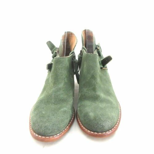 6.5 - Schuler & Sons Anthropologie Green Suede Ankle Boots Booties 0000MB image 3