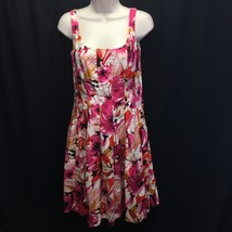 American Living Sleeveless Dress Floral Print Size 2 Pleated Detail Pockets - $22.00