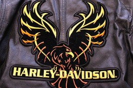 Women's Harley Davidson M Leather Coat Via Max Brand - $140.24