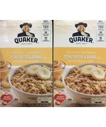 Quaker Peanut Butter & Banana Instant Oatmeal Hot Cereal, 2 Delicious Boxes - $14.95