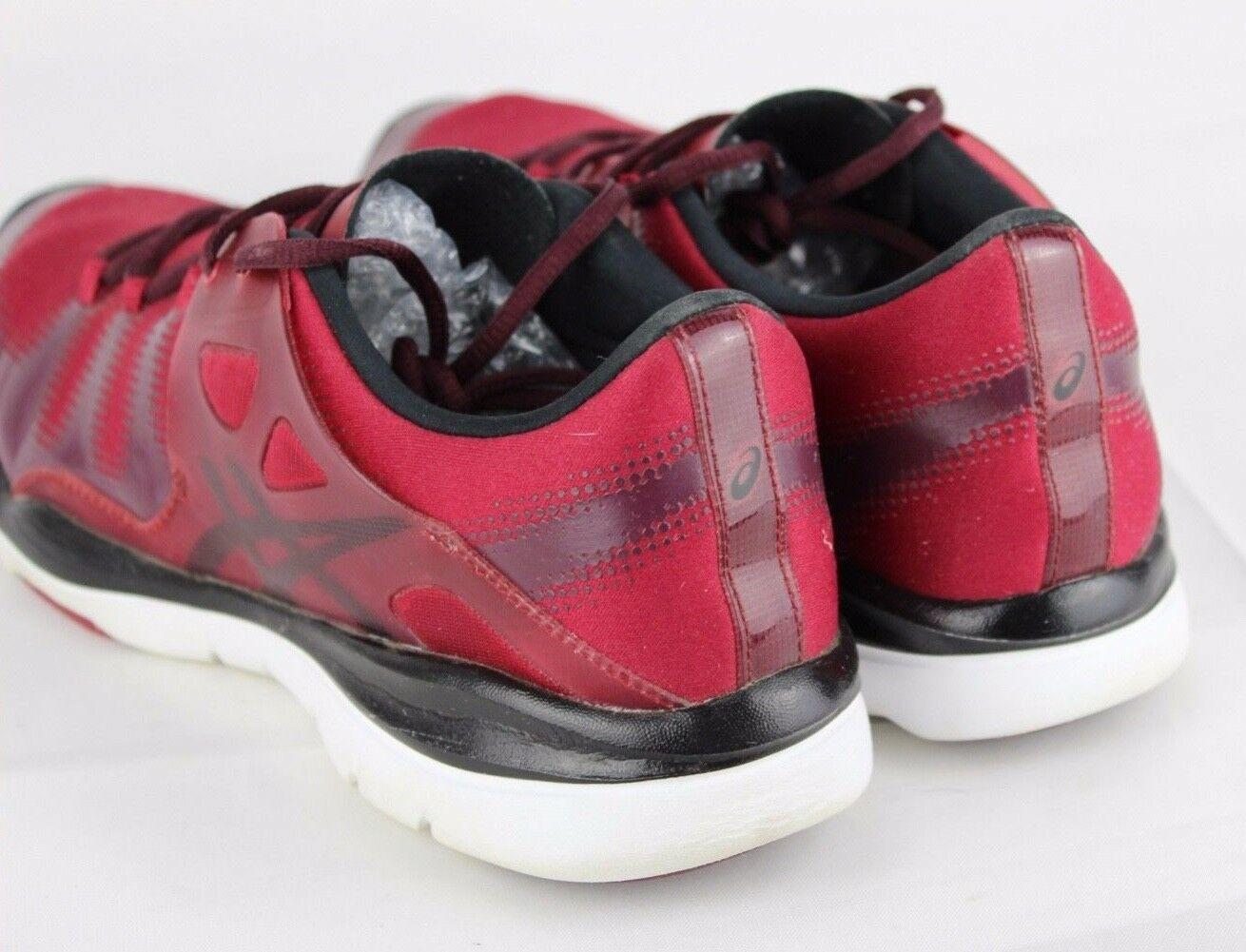 Asics Gel Passform Vida Damen Schuhe Rot Laufen Training Sneakers Schnürsenkel