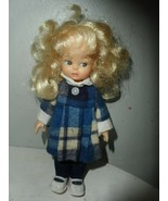 "Blonde Hair Blue eye 6.5"" Doll Hong Kong - $9.85"