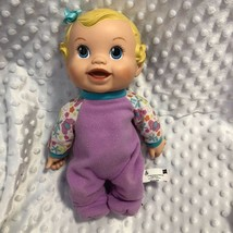 Baby Alive Hasbro 2009 Doll Purple Pjs Talks Bounces up & Down - $9.31