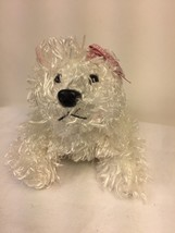 "GANZ Webkinz White Terrier Dog Plush 7"" Puppy Stuffed Animal Lovey No Code - $6.44"