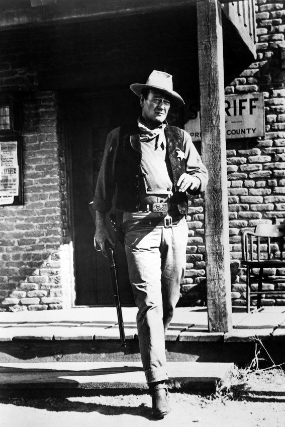 Primary image for Rio Bravo John Wayne Walking Across St 18x24 Poster