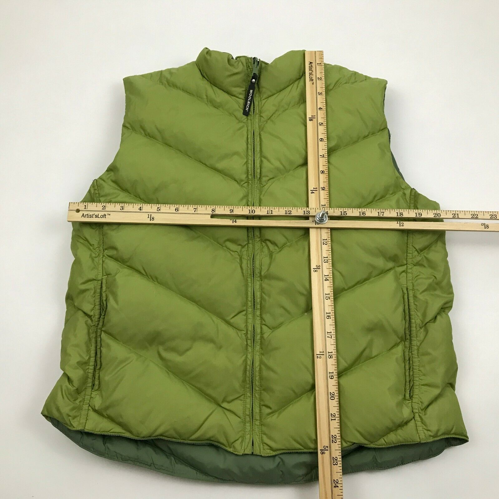 New Woolrich Womens Down Vest Olive Gilet Quilted Green