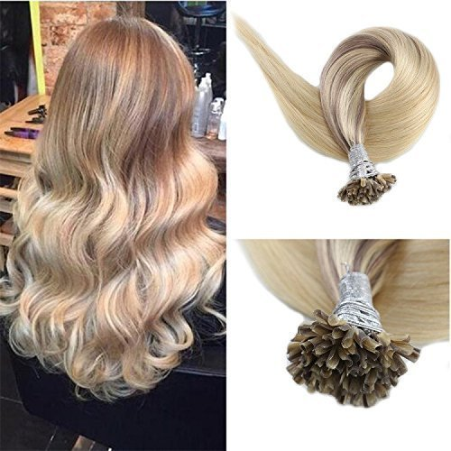 Full Shine 20 inch 50 Strand 50gram U Tip Extensions Remey Human Hair Fusion Hum