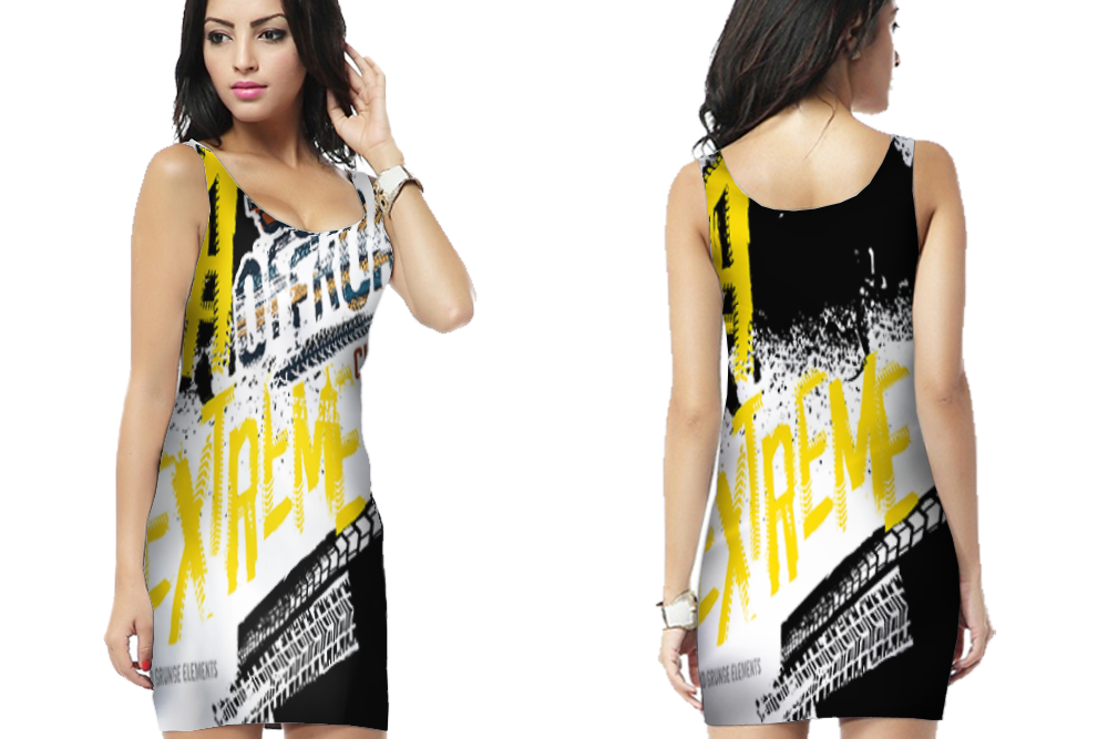 Extreme Off-Road Racing Bodycon Dress For Women