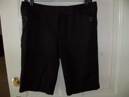 White House Black Market Black Slim Bermuda Shorts Size 4 Women's EUC - $20.25
