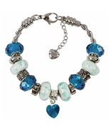 December Charm Bracelet With European Bead Charms For Women, Stainless S... - $34.82
