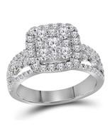 14kt White Gold Round Diamond Cluster Bridal Wedding Engagement Ring 1-1... - £1,430.23 GBP