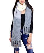 7 Seas Republic Women's Knit Tri Color Tassel Oblong Scarf - $25.99