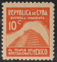1937 Cuba Stamps E10 Mexico Temple of Quetzalcoatl Special Delivery  MNH - $9.99