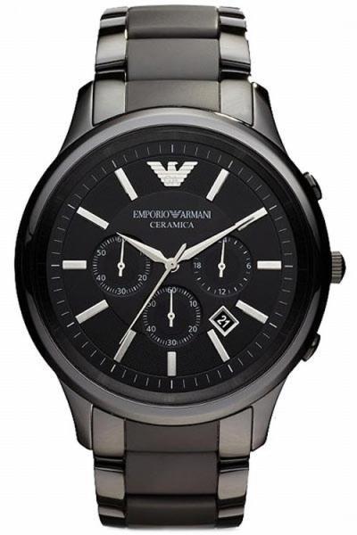 Armani AR1452 Men´s Black Ceramica Chronograph Bracelet Watch