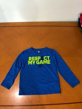 "Boys Kids Adidas Climalite ""Respect My Game"" Blue Long Sleeve Shirt Size 7 - $9.89"