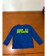 """Boys Kids Adidas Climalite """"Respect My Game"""" Blue Long Sleeve Shirt Size 7 - $9.89"""