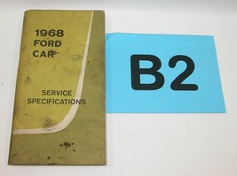 1968 Ford Car Service Specifications Manual Used Condition # B2 - $19.75