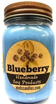 Blueberry 16oz Country Jar Soy Candle - Handmade in Rolla MO - $18.68