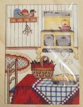 Counted Cross Stitch Kit Cozy Kitchen Country Apple Pie The Creative Cir... - $12.99