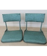 Vtg Green 50's 60's Portable Folding Stadium Seat Chairs Bleachers Clamp... - $128.65