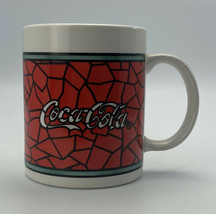 Coca Cola Stained Glass Coffee Mug 1996 Gibson Soda Pop COCA COLA Advertising - $12.08