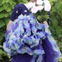 Women Above Knee Ruffle Layered Tulle Skirt Princess Plus Size Tiered Tutu Skirt image 5