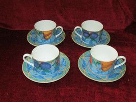 Victoria Beale Forbidden Fruit set of 4 cups and saucers - $18.76