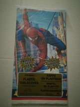 SPIDER-MAN 2 THE MOVIE PLASTIC TABLE COVER. PRINTED ALL OVER. - $9.49