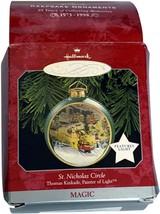 VTG Hallmark Christmas Ornament Keepsake St. Nicholas Circle Kinkade Mag... - $11.99