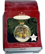 VTG Hallmark Christmas Ornament Keepsake St. Nicholas Circle Kinkade Magic Light - $11.99