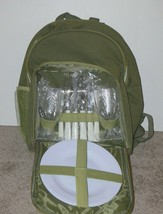 Insulated Green Picnic Backpack Cooler For 2 mc - $286,05 MXN