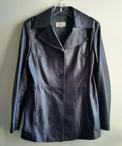 Bloomingdale's Black Leather Jacket, Fully Lined, Size 40 (Small), Pre-o... - $103.49