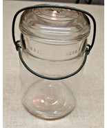 Hazel Atlas Bail Pint Clear Glass Canning Jar 5802 9 - $15.04