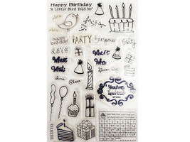 Birthday Party with Icons Clear Stamp Set