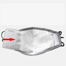 Washable Face Mask Anti-Dust Flu Reusable Respirator Masks with 2 carbon filter image 3