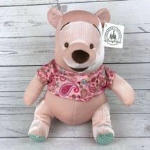 "NWT Disney Parks Paisley Winnie the Pooh Plush Pink 12"" - $24.99"