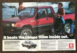 1987 Dodge Power Ram 50 Two-Page Centerfold Print Ad Divers Whitewater R... - $11.01