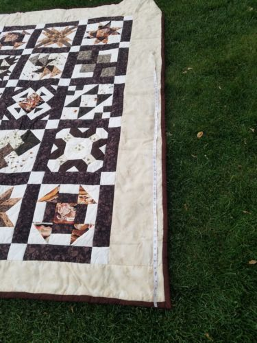 "Twin COWBOY 68"" × 94"" QUILT Fly fishing, Bees, Mans Boys handmade"