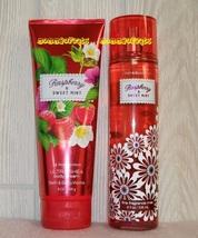 Raspberry Sweet Mint Bath and Body Works Fragrance Mist Ultra Shea Body Cream - $28.00