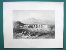 TURKEY Pisidian Antioch Ancient Caesareia - 1854 Antique Print Engraving - $26.01